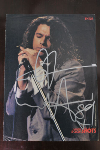 INXS / MICHAEL HUTCHENCE - 8 X 10 MAG PAGE BEAUTIFULLY SIGNED HUGE AUTOGRAPH