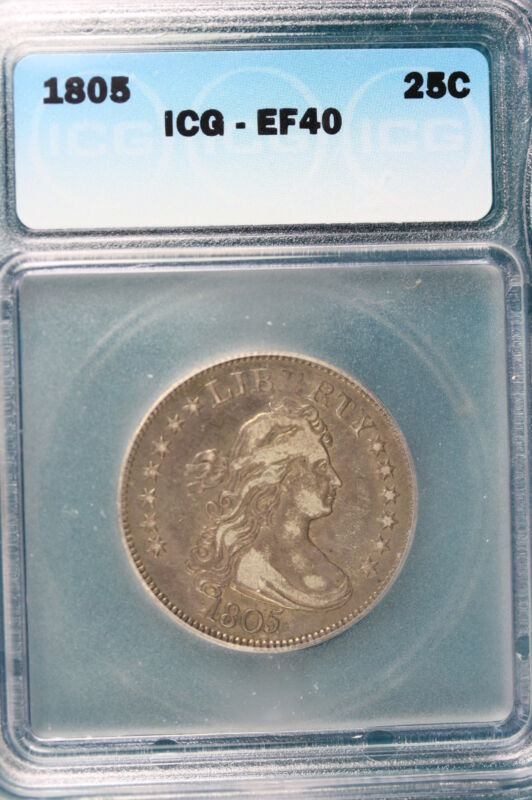 1805 25C DRAPED Bust Quarter ICG XF40 #108