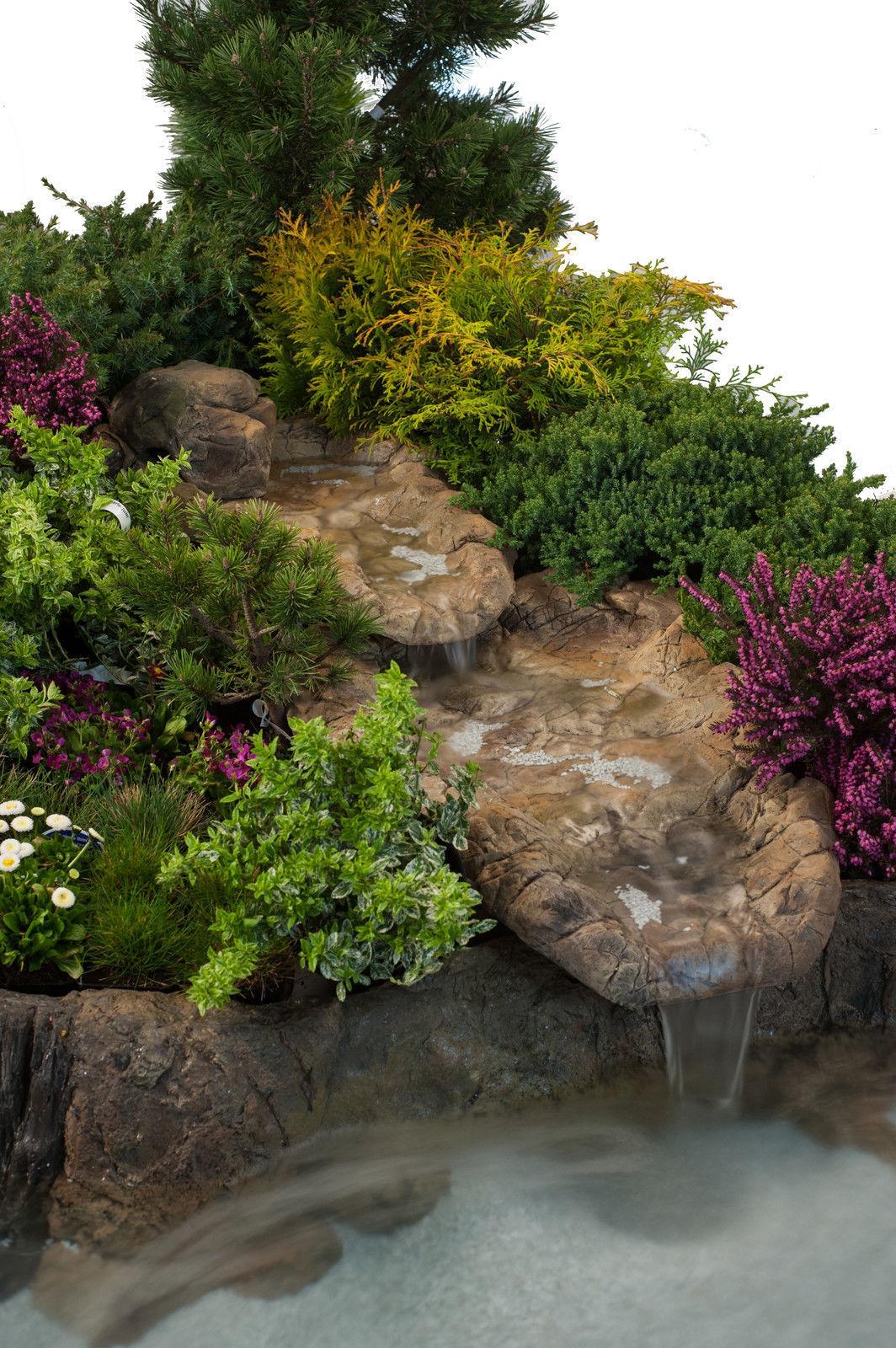 Bachlauf Wasserfall Gartenteich Bachlaufschalen Set Klein
