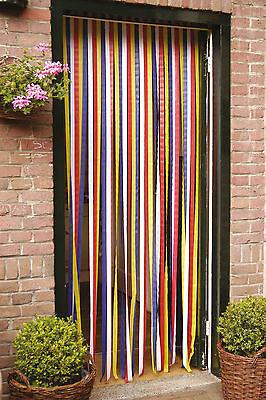 Türvorhang Insektenschutz Vorhang Tür Fliegengitter Streifenvorhang 90x210 cm