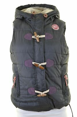 SUPERDRY Womens Padded Gilet Size 10 Small Grey Polyester  HX01