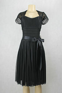 JS-Collections-women-dress-black-short-sleeve-size-16