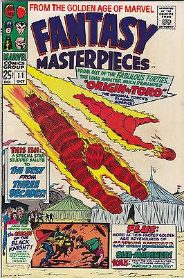 Fantasy Masterpieces #11 FN+ 1967 Marvel Comics/Captain America/Human Torch/Toro