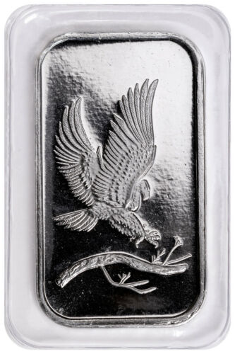 SilverTowne Mint Eagle Design 1 oz .999 Fine Silver Bar SKU48242