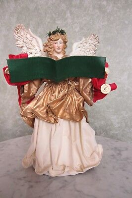 HAND-FABRICATED TREE TOPPER of CHRISTMAS ANGEL ANNOUNCING THE BIRTH OF CHRIST ()