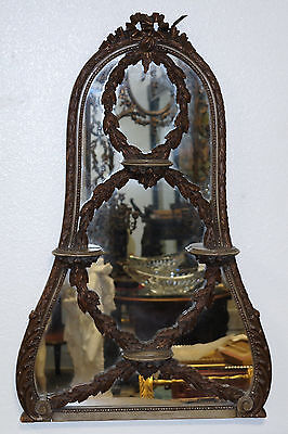Venetian Italian Carved Wood Mirror w/Shelves Late 19th/E. 20th Century