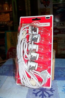 HOLIDAY TIME 5 SOCKET LIGHT CORD DEPT 56 / LEMAX CHRISTMAS VILLAGE BUILDINGS NEW ()