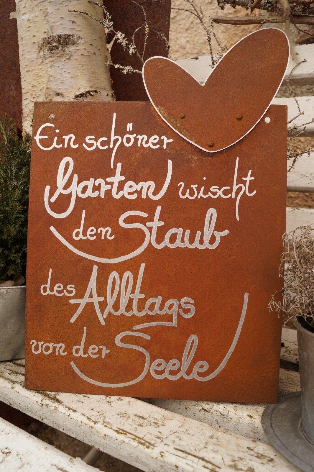 Edelrost Deko Metall Tafel Dekoschild Gartendeko Rost Spruchtafel Familie