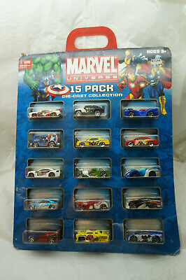 MAISTO TOY CARS MARVEL UNIVERSE 15 PACK DIECAST COLLECTION 2010 NEW LEADFOOT Maisto Toy Cars