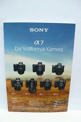 2018 SONY A7R 3 A7R III A7 KAMERA PROSPEKT PHOTOAPPARAT KATALOG CAMERA BROCHURE