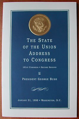 George H W  Bush  Sr   1990  State Of The Union Address  Vip Edition To Congress