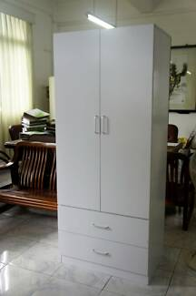 Good quality 2 doors wadrobe with 2 drawers, white/black optional Marrickville Marrickville Area Preview