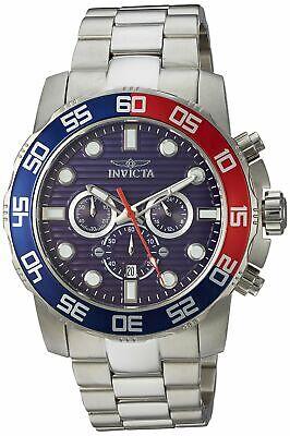 Invicta Pro Diver Chronograph 50mm Blue Dial Silver Tone Steel Men's Watch 22225