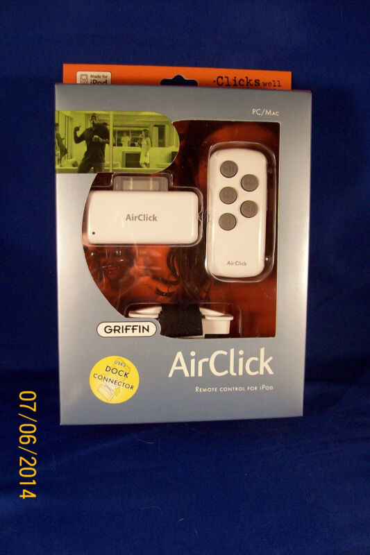 Griffin AirClick Remote Apple 4G 5G Mini Dock Video
