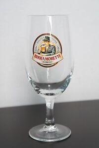 Birra Moretti Beer Glass Italian Beer