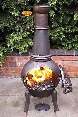 Granada Extra-Large chimenea 124cm garden patio heater fire woodburner cast (Large Chimenea)