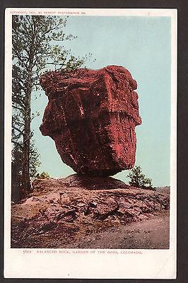 1901 Balanced Rock Garden of the Gods Colorado landscape mountain