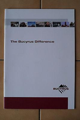 Bucyrus Mining Prospekt / Gesamtprospekt Mining Bagger