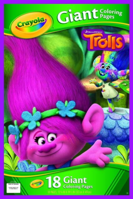 Crayola 04-6922-0-960 Trolls Giant Colouring Pages