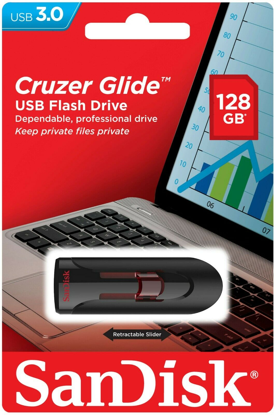 SanDisk Cruzer Glide USB 3.0 16GB 32GB 64GB 128GB Flash Driv