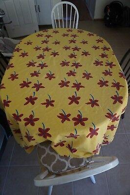 Rare Beautiful MAMMA RO LUCCA Rectangle Burlap Tablecloth