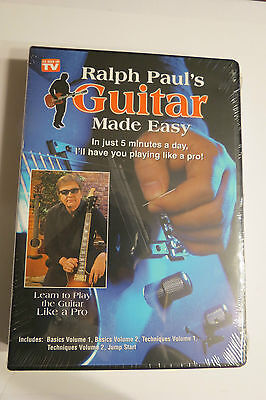 Ralph Paul's Guitar Made Easy As Seen On TV 5 DVD Learn Play New Sealed Deluxe on Rummage