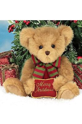 """14"""" BEARY MERRY Bearington Stuffed Teddy Bear New NWT Christmas 173903"""