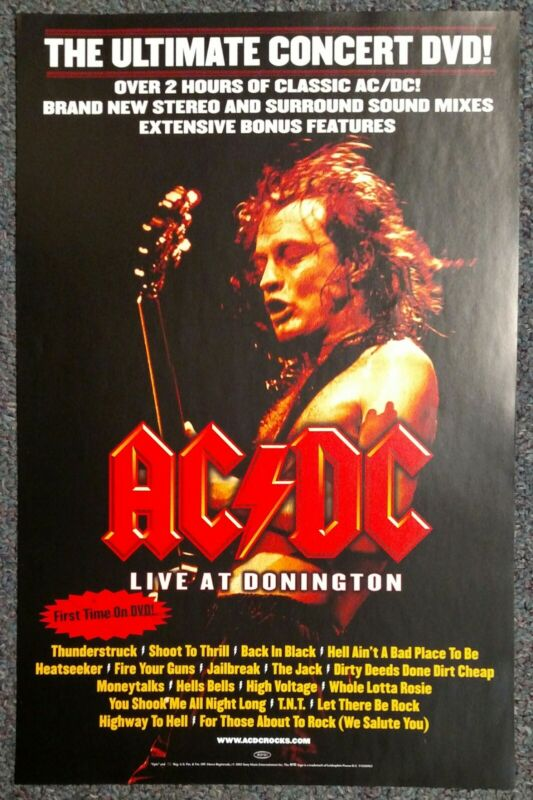 AC/DC Live at Donington 2003 PROMO POSTER Angus Young