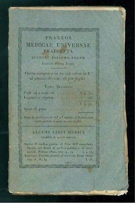 FRANK JOSEPHO PRAXEOS MEDICAE UNIVERSAE PRAECEPTA DE MORBIS CUTIS BALBINI 1821
