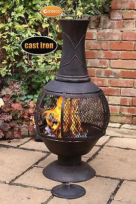 Opera large chimenea 100cm high garden patio heater fire woodburner cast (Large Chimenea)