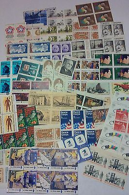 100 Assorted Mixed, Multiples & Singles of 8 ¢ Cents US Stamps. Face Value $8.00