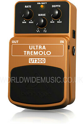 Behringer UT300 Ultra Tremolo Guitar Effects Pedal / Stomp Box