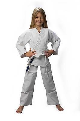 Judo-Anzug Basic, Einsteiger-Anzug mit Reiskornwebung und Gürtel