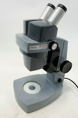 American Optical Forty Model 41 Stereo Inspection Laboratory Microscope Working