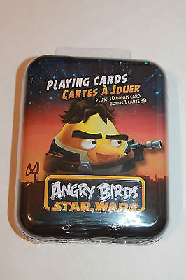 Angry Birds Star Wars Hans Solo Playing Cards in Metal Tin + 3D Bonus Card  NEW