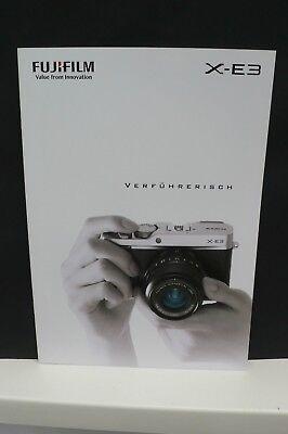 2017 FUJIFILM XE3 XE  FUJI KAMERA PROSPEKT PHOTOAPPARAT KATALOG CAMERA BROCHURE