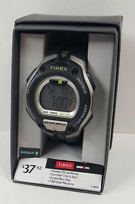 TIMEX Ironman Classic 30 Oversized Men's Watch Black Silver Green T 5K412 WX