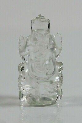 Ganesha, Bergkristall, H-3,6 cm, 13,65 gr. (ES10)
