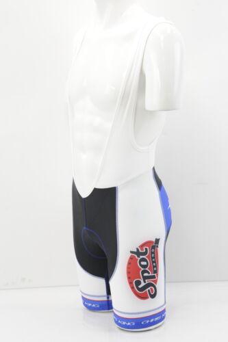 Verge Elite Team Spot Brand Cycling Bib Shorts Medium White/