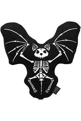 Killstar Skeleton Bat Cushion Throw Pillow NEW Goth Victor Home Decor (Goth Home Decor)