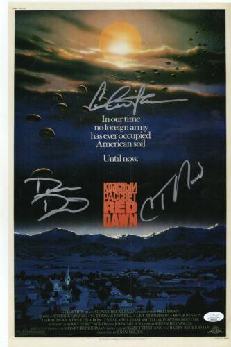 Red Dawn Cast x3 Autograph Signed 11x17 Photo - Sheen Howell Dalton (JSA COA)