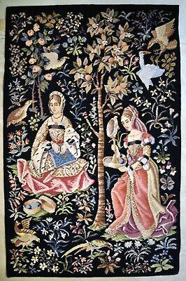 Vintage Weavers Weaving Needlework Tapestry Framed Needlepoint Women Studio