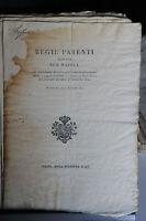 Regno Di Sardegna - Regie Patenti - 24/12/1822 - Giurisdizioni Abolite -  - ebay.it