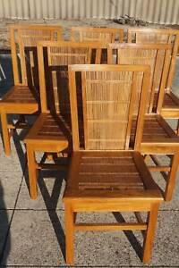 English Oak Dining Chairs x 6