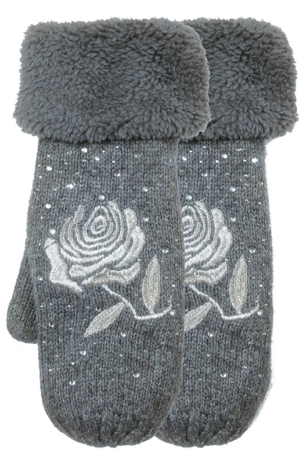 HANDSCHUHE - Fäustlinge für Damen EXTRA WARM mit Plüschfutter Winterhandschuhe