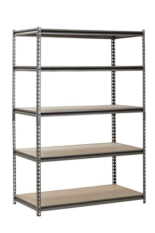 "Metal Muscle Rack Shelving Storage 48""W x 24""D x 72""H Garage 5 Shelf Heavy Duty"