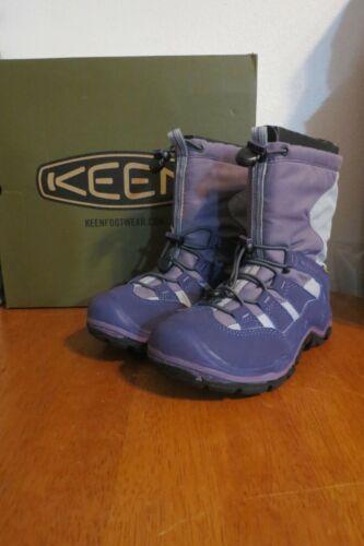 KEEN Purple Waterproof Rain / Winter Boots, sz. youth US 1 / UK 13 ~ NICE!