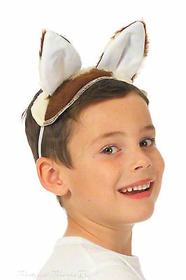 Cow Costume Kids Ears and Tail Fancy Dress Nativity Play Animal World Book Day - Cow Costume Ears