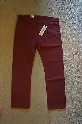NEW Men's Levi's 513 Slim Straight Stretch Jeans Size 38x32