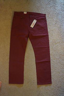 NEW Men's Levi's 513 Slim Straight Stretch Jeans Size 38x32